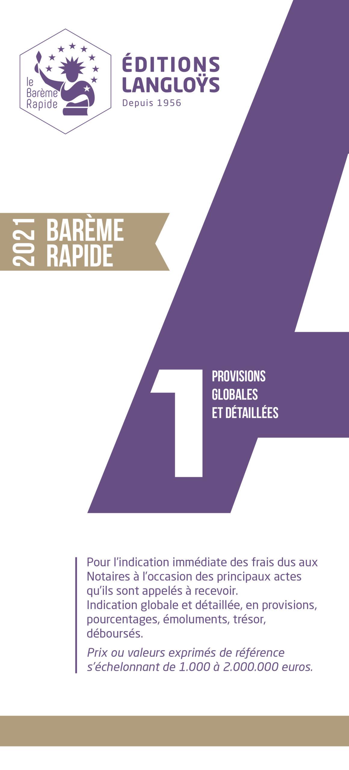 2021 - Barème Rapide A1