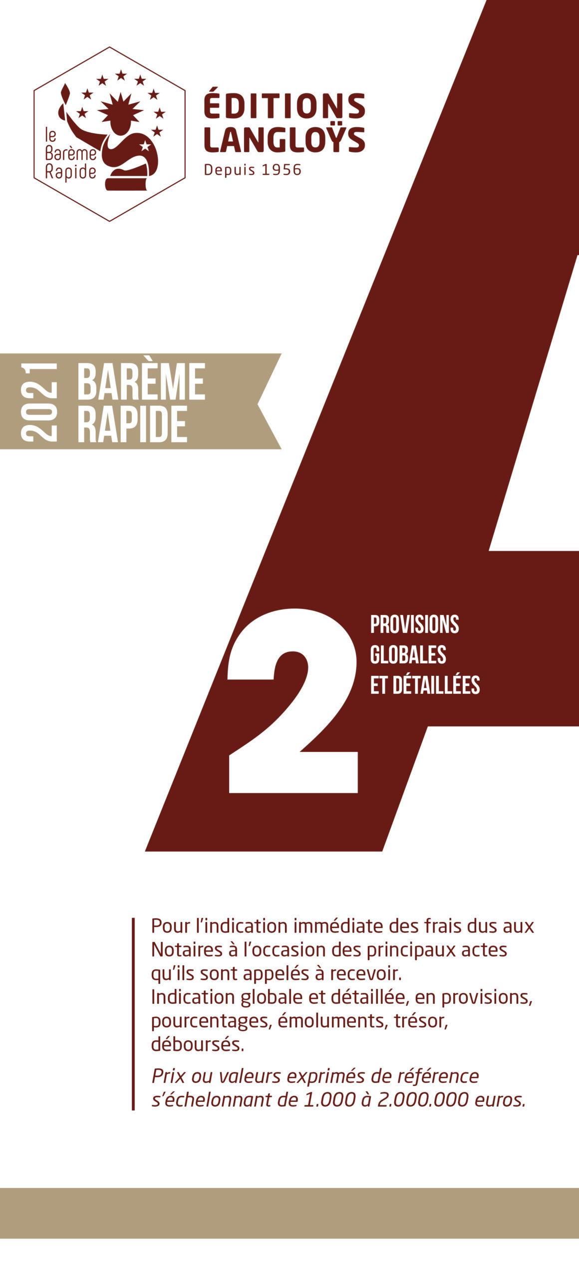 2021 - Barème Rapide A2