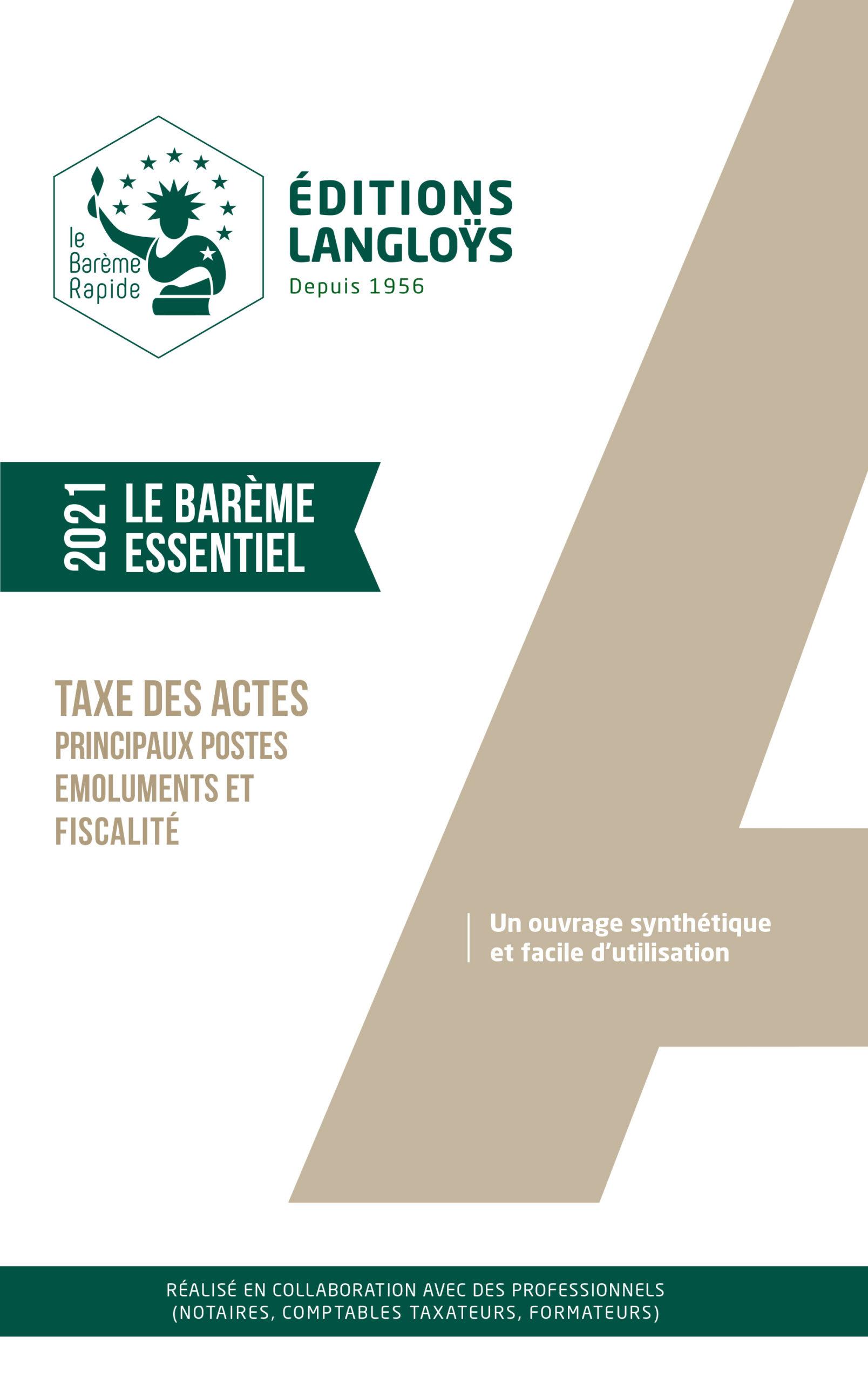 2021 - Barème ESSENTIEL