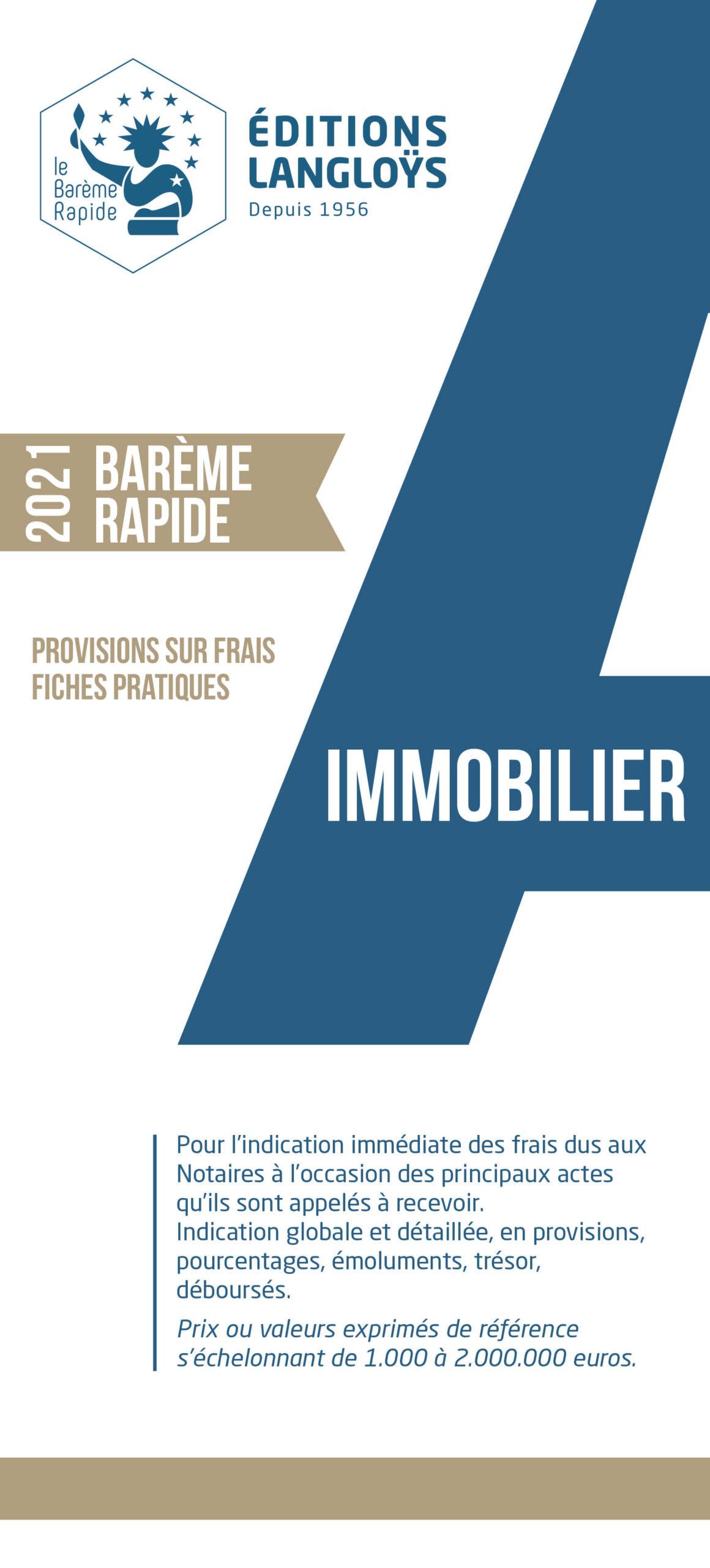 2021 - Barème Rapide IMMO