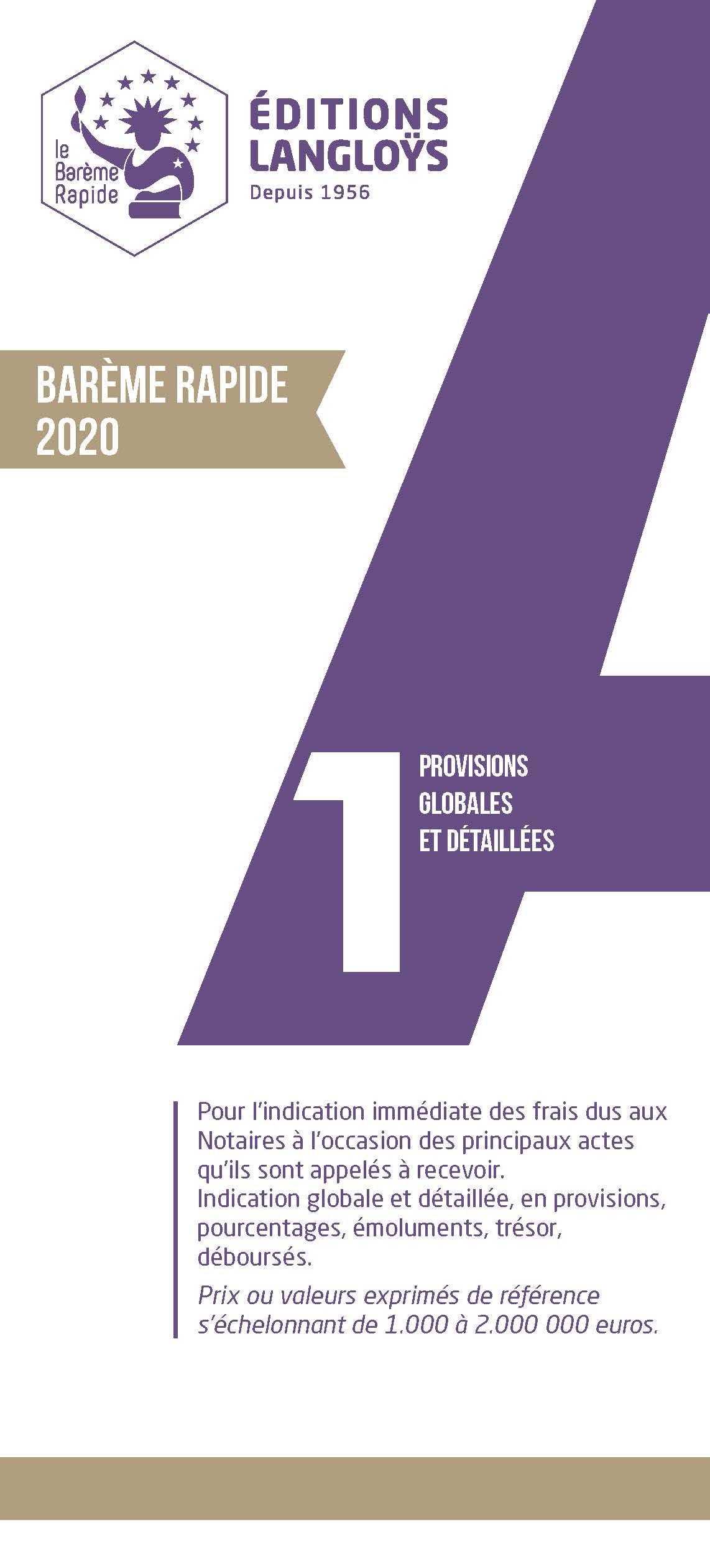 Barème A1 2020