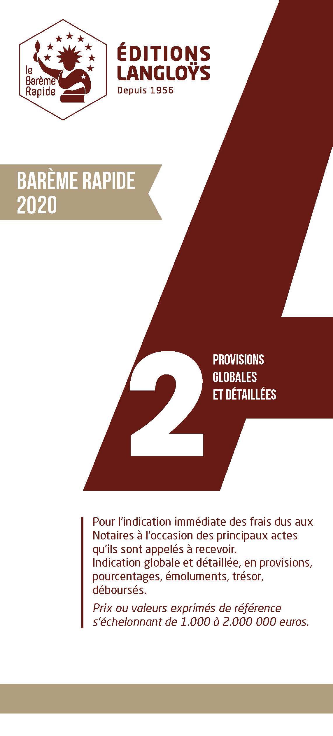 Barème A2 2020