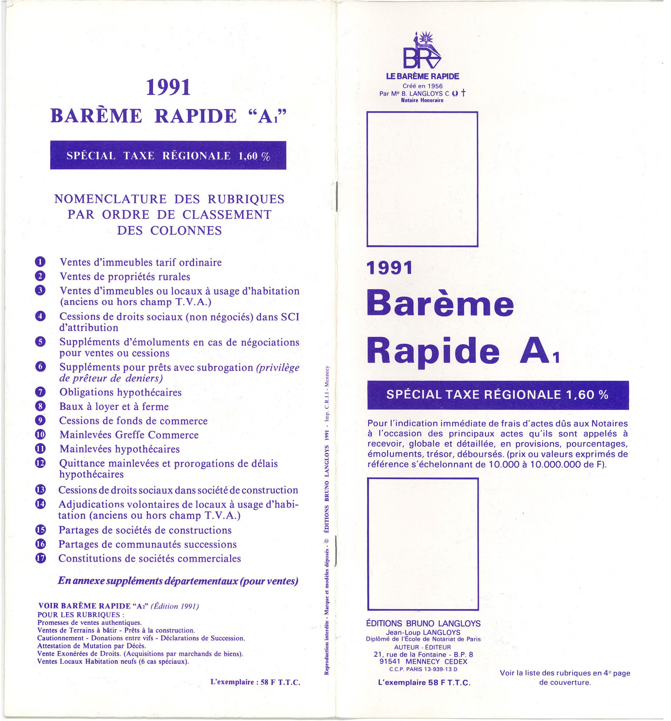 B A1 1991