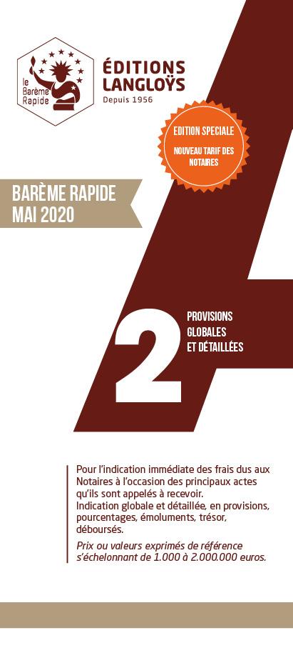 Barème A2 2020 - Réforme du tarif