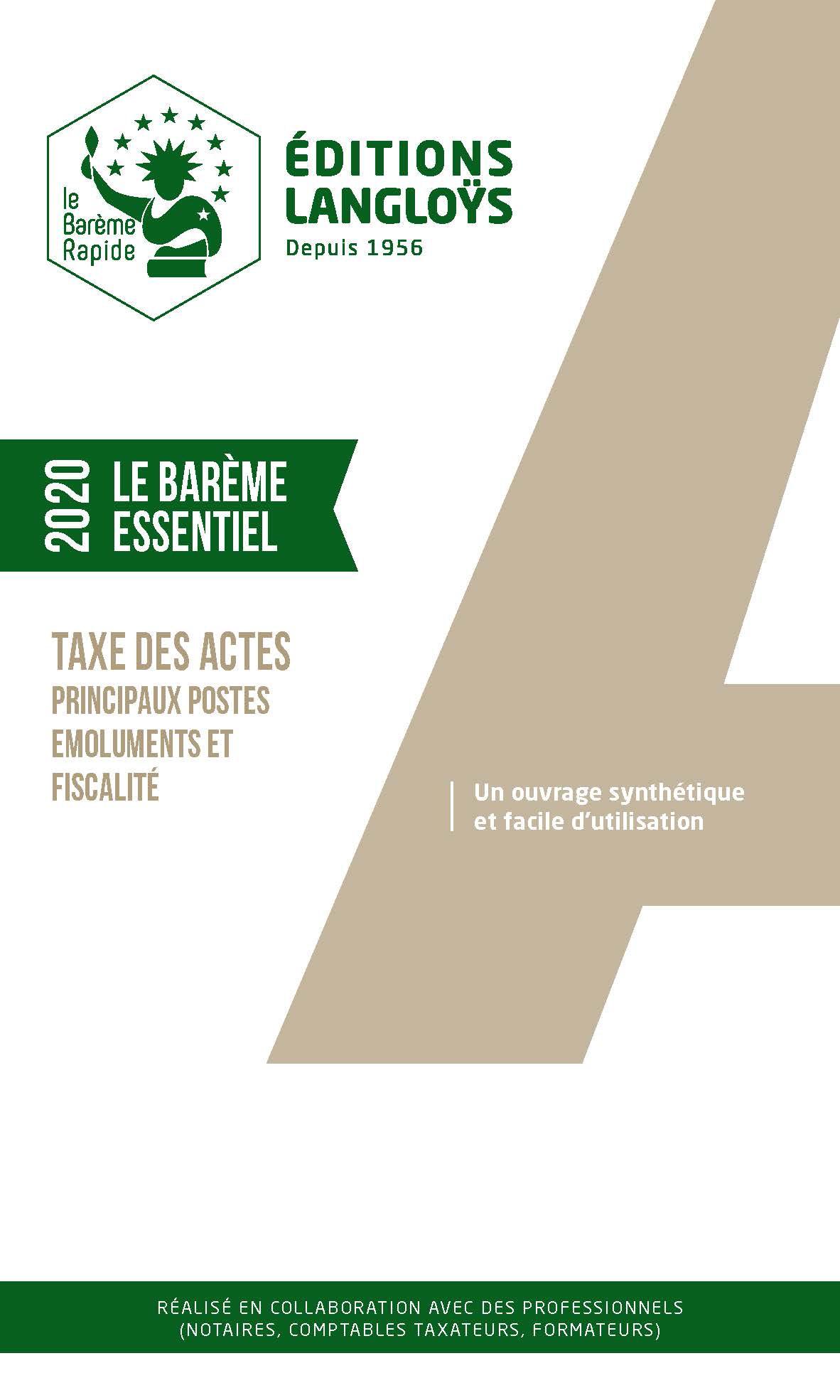 Barème Essentiel 2020