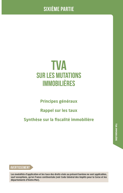 TVA sur les mutations immobilières