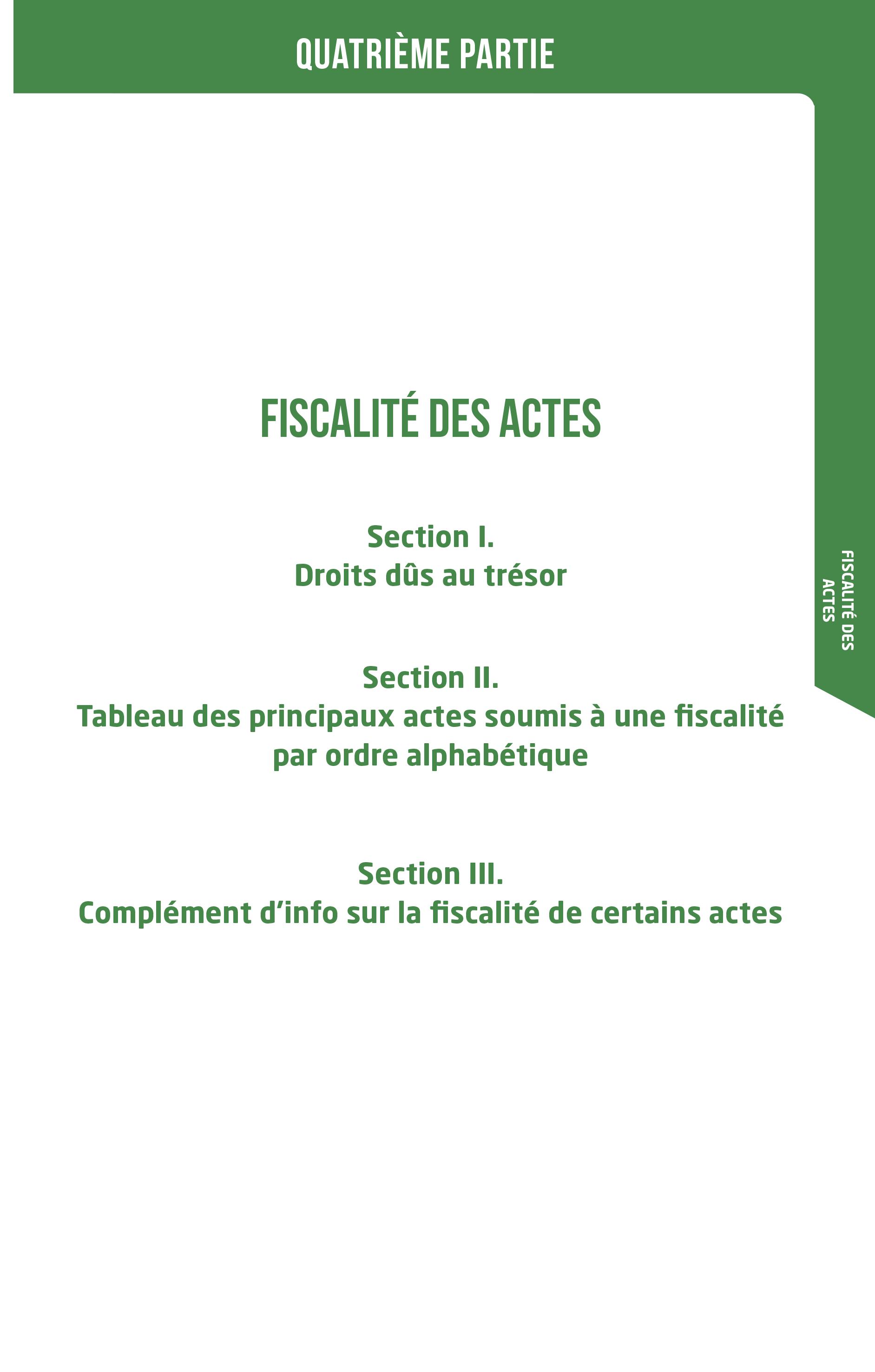 Essentiel - Fiscalité
