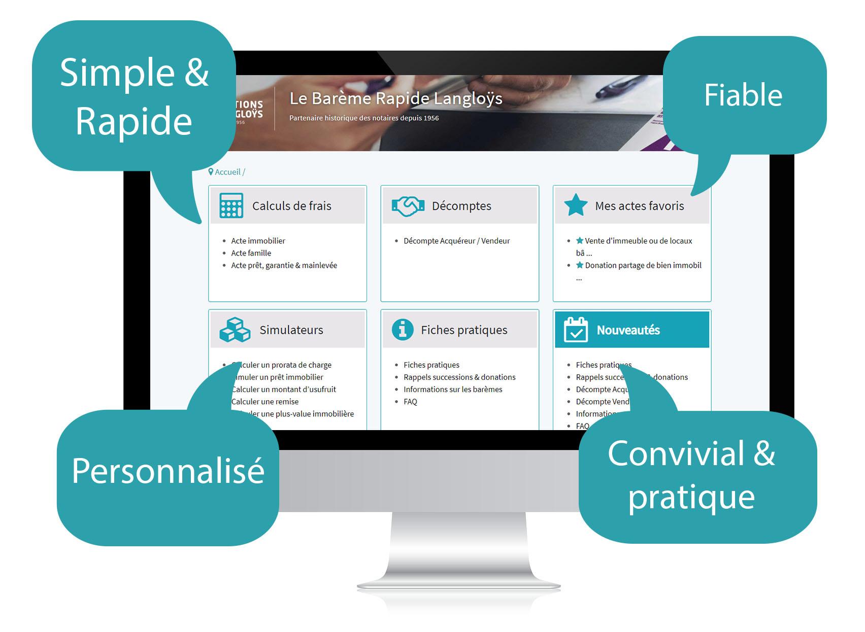 Page d'accueil outil de pré taxe en ligne